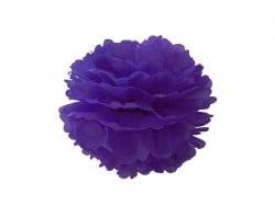Pompon aus Seidenpapier (20 cm) - lila