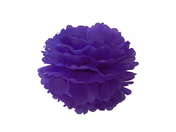 Pompon en papier de soie 20 cm - violet