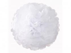 Pompon aus Seidenpapier (30 cm) - weiß