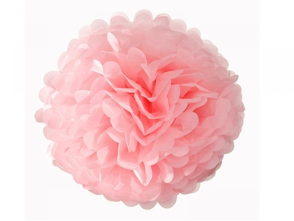 Tissue paper pom-pom (30 cm) - light pink