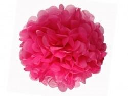 Pompon en papier de soie 30 cm - rose fuschia