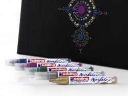 Acheter Edding Acrylic 5100 - Marqueur acrylique à pointe moyenne - noir - 3,79€ en ligne sur La Petite Epicerie - Loisirs c...