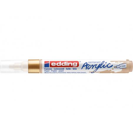 Acheter Edding Acrylic 5100 - Marqueur acrylique à pointe moyenne - or précieux - 3,79€ en ligne sur La Petite Epicerie - Lo...