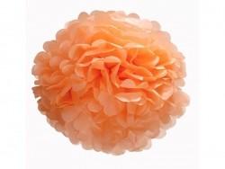 Pompon en papier de soie 30 cm - corail
