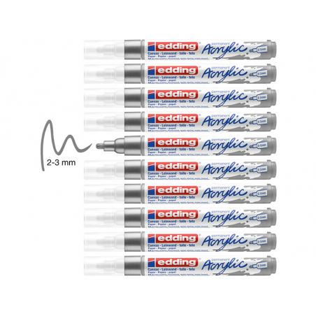 Acheter Edding Acrylic 5100 - Marqueur acrylique à pointe moyenne - argent - 3,79€ en ligne sur La Petite Epicerie - Loisirs...