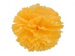 Pompon aus Seidenpapier (30 cm) - goldgelb