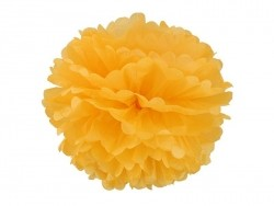 Tissue paper pom-pom (30 cm) - golden yellow