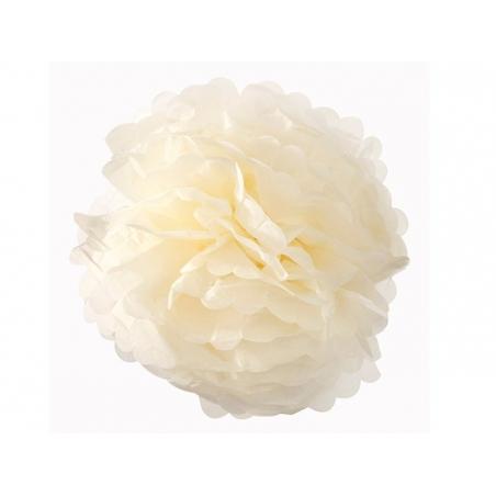 Tissue paper pom-pom (30 cm) - ivory