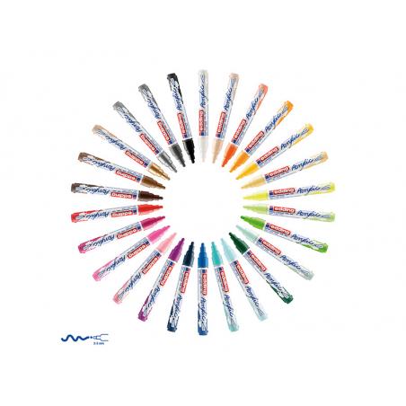 Acheter Edding Acrylic 5100 - Marqueur acrylique à pointe moyenne - bleu gentiane - 3,79€ en ligne sur La Petite Epicerie - ...