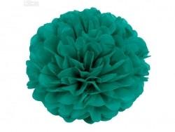 Pompon en papier de soie 30 cm - vert émeraude