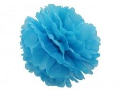 Pompon aus Seidenpapier (30 cm) - himmelblau