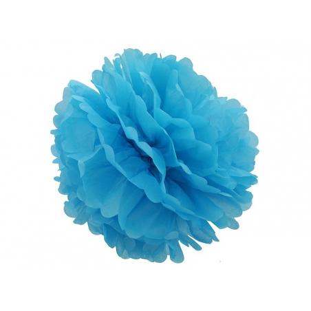 Tissue paper pom-pom (30 cm) - sky blue