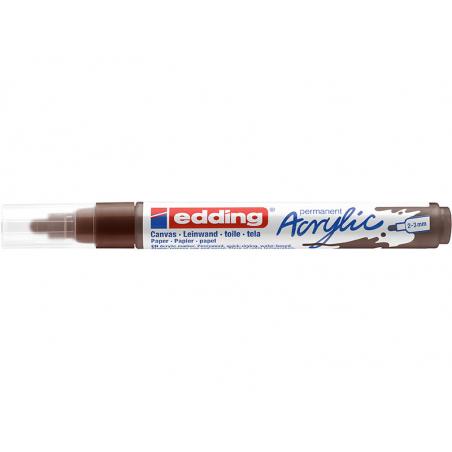 Acheter Edding Acrylic 5100 - Marqueur acrylique à pointe moyenne - marron - 3,79€ en ligne sur La Petite Epicerie - Loisirs...