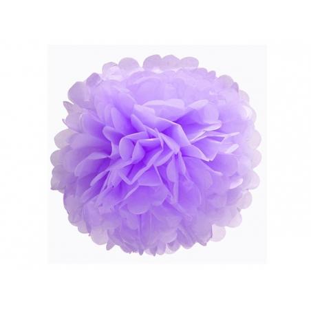 Tissue paper pom-pom (30 cm) - mauve
