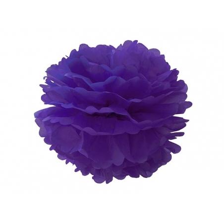 Pompon en papier de soie 30 cm - violet