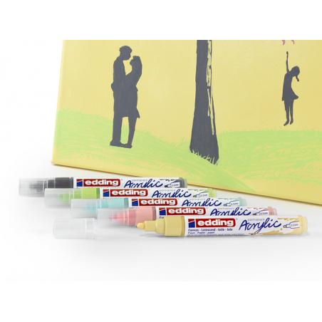 Acheter Edding Acrylic 5100 - Marqueur acrylique à pointe moyenne - rose fluorescent - 3,79€ en ligne sur La Petite Epicerie...