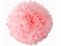 Pompon en papier de soie 35 cm - rose pétale