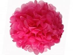 Pompon en papier de soie 35 cm - rose fuschia