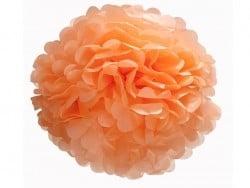 Pompon en papier de soie 35 cm - corail