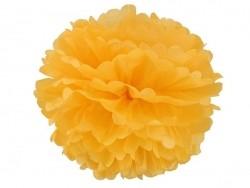 Pompon en papier de soie 35 cm - jaune d'or