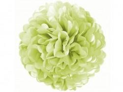 Pompon en papier de soie 35 cm - vert pomme