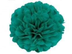 Pompon aus Seidenpapier (35 cm) - smaragdgrün