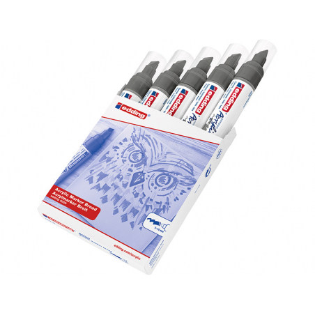 Acheter Edding Acrylic 5000 - Marqueur acrylique à pointe large - gris anthracite - 5,79€ en ligne sur La Petite Epicerie - ...