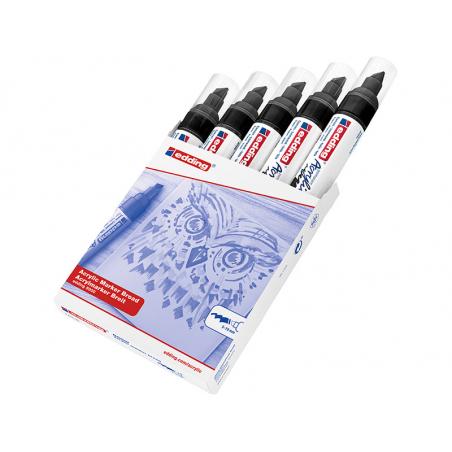 Acheter Edding Acrylic 5000 - Marqueur acrylique à pointe large - noir - 5,79€ en ligne sur La Petite Epicerie - Loisirs cré...