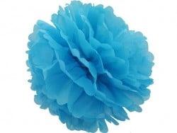 Pompon en papier de soie 35 cm - bleu ciel  - 1