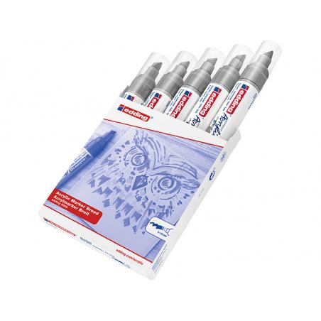 Acheter Edding Acrylic 5000 - Marqueur acrylique à pointe large - argent - 5,79€ en ligne sur La Petite Epicerie - Loisirs c...