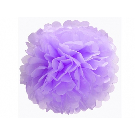 Tissue paper pom-pom (35 cm) - mauve