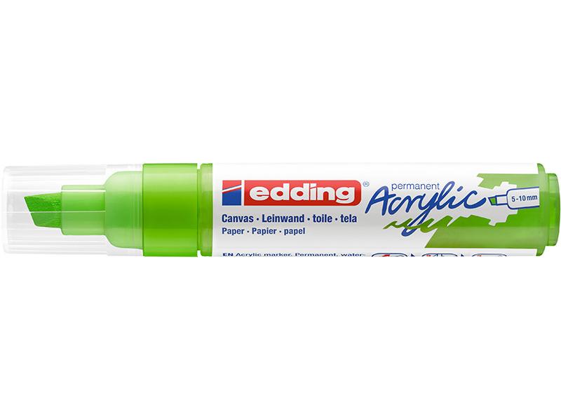 Acheter Edding Acrylic 5000 - Marqueur acrylique à pointe large - vert jaune - 5,79€ en ligne sur La Petite Epicerie - Loisi...