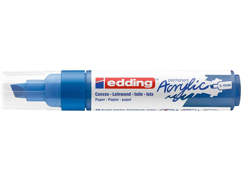 Acheter Edding Acrylic 5000 - Marqueur acrylique à pointe large - bleu gentiane - 5,79€ en ligne sur La Petite Epicerie - Lo...