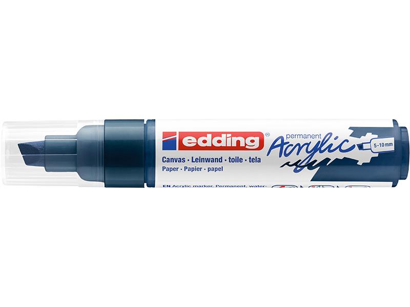 Acheter Edding Acrylic 5000 - Marqueur acrylique à pointe large - bleu nuit - 5,79€ en ligne sur La Petite Epicerie - Loisir...