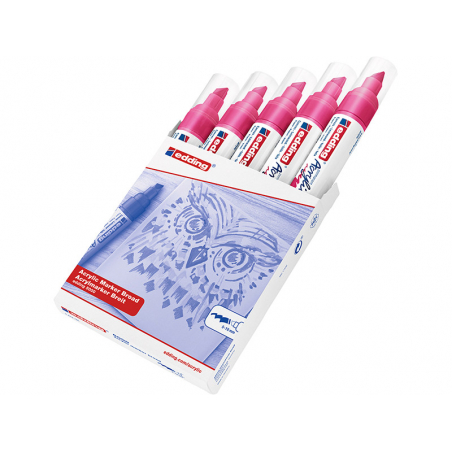 Acheter Edding Acrylic 5000 - Marqueur acrylique à pointe large - magenta - 5,79€ en ligne sur La Petite Epicerie - Loisirs ...
