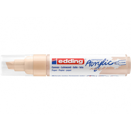 Acheter Edding Acrylic 5000 - Marqueur acrylique à pointe large - beige - 5,79€ en ligne sur La Petite Epicerie - Loisirs cr...