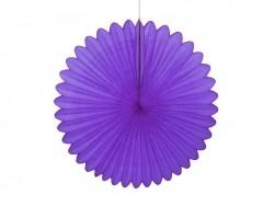 rosace en papier de soie 25 cm - violet