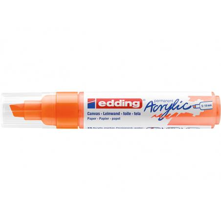 Acheter Edding Acrylic 5000 - Marqueur acrylique à pointe large - orange fluorescent - 5,79€ en ligne sur La Petite Epicerie...