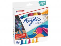 Acheter Set Neon de 5 marqueurs acrylique à pointe large - edding - 24,49€ en ligne sur La Petite Epicerie - Loisirs créatifs