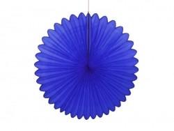 rosace en papier de soie 25 cm - bleu roi  - 1
