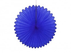 Tissue paper rosette (25 cm) - royal blue