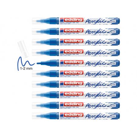 Acheter Edding Acrylic 5300 - Marqueur acrylique à pointe fine - bleu gentiane - 3,79€ en ligne sur La Petite Epicerie - Loi...