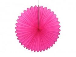 rosace en papier de soie 25 cm - rose vif fuschia   - 1