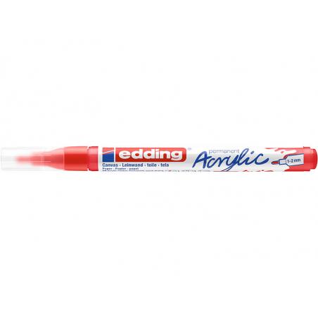 Acheter Edding Acrylic 5300 - Marqueur acrylique à pointe fine - rouge - 3,79€ en ligne sur La Petite Epicerie - Loisirs cré...
