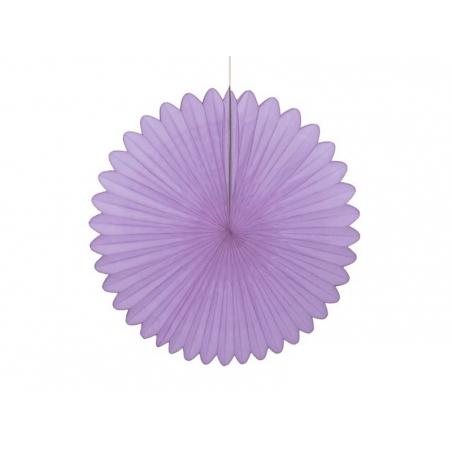 rosace en papier de soie 25 cm - mauve
