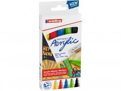 Acheter Set Basique de 5 marqueurs acrylique à pointe moyenne - edding - 15,49€ en ligne sur La Petite Epicerie - Loisirs cr...