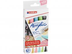 Acheter Set Pastel de 5 marqueurs acrylique à pointe moyenne - edding - 15,49€ en ligne sur La Petite Epicerie - Loisirs cré...