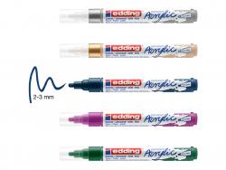 Acheter Set Métallique de 5 marqueurs acrylique à pointe moyenne - edding - 15,49€ en ligne sur La Petite Epicerie - Loisirs...