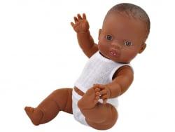 Acheter Poupée pour enfant - Bébé noir - Pyjama blanc - 25,99€ en ligne sur La Petite Epicerie - Loisirs créatifs