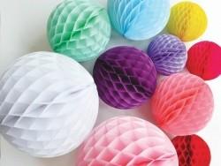 Honeycomb ball (15 cm) - yellow